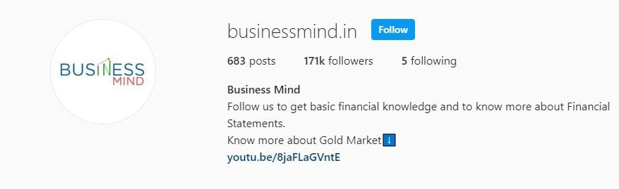 Businessmind.in Stock Market Instagram Account