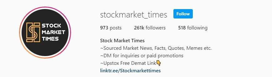 Stockmarket_times Stock Market Instagram Account