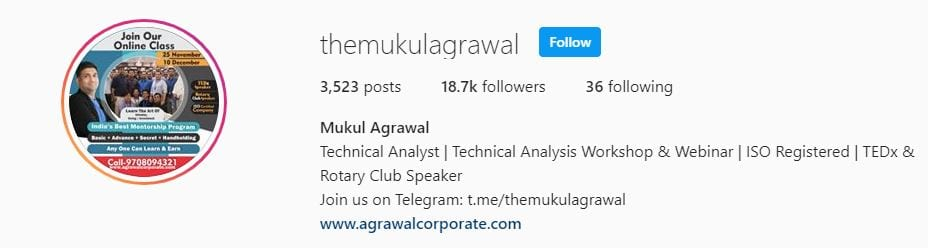 TheMukulAgrawal Stock Market Instagram Account